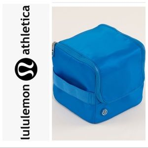 lululemon Kitchen Sink Travel Toiletry Bag blue